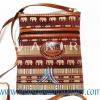 ของฝากจากไทย กระเป๋าสะพายลายช้างสายหนัง แบบ 7 สีน้ำตาล