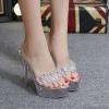 รองเท้าส้นสูงส้นแก้วแบบสวม ไซต์ 34-39