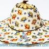 หมวกพัด ไอเดียของที่ระลึก แบบ 2 สีขาว