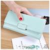 P105 - กระเป๋าสตางค์ใบยาว - เขียว-ชมพู