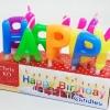 เทียนวันเกิดตัวอักษร HAPPY BIRTHDAY
