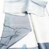 ผ้าพันคอผ้าไหม แบบ 8 สีเทาไล่เฉดสี