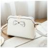 J26-กระเป๋าลายถักไม่ปักหมุด - สีขาว