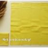 ผ้าเช็ดหน้าสีพื้น สีเหลือง