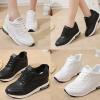 รองเท้าผ้าใบเสริมส้นสีดำ/ขาว ไซต์ 35-40 รุ่นนี้เท้าอวบหรือหน้าเท้ากว่า +1 ไซต์