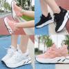 รองเท้าผ้าใบเสริมส้นน้ำหนักเบาใส่สบายสีชมพู/ดำ/ขาว ไซต์ 35-39