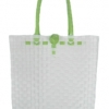 ตะกร้าสานพลาสติก กระเป๋าสานพลาสติก AU - สายตองอ่อน กว้าง 10 cm. ยาว 36cm. สูง 32 cm.