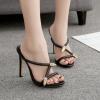 รองเท้าส้นสูงแบบสวมทรงเก๋สีดำ ไซต์ 35-40