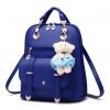 J18-กระเป๋าสะพายวินเทจสไตล์เกาหลี-สีน้ำเงินเข้ม