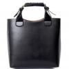 กระเป๋าถือพร้อมสายสะพายไหล่ สีดำ-พร้อมส่ง