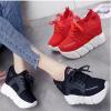 รองเท้าผ้าใบเสริมส้น ไซต์ 34-39 สีดำ,แดง