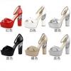 รองเท้าส้นสูง ไซต์ 34-39 สีดำ สีแดง สีขาว สีเนื้อ สีเทา สีเงิน