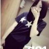 7104 เสื้อยืดลายดาว สีดำ
