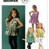 แพทเทิร์นตัดเสื้อ กางเกง เด็กหญิง Butterick 5877 Size: 2-3-4-5