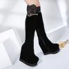 รองเท้าบูทยาวสีดำมีรุ่นหนัง และ ผ้า ไซต์ 34-39