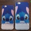 iPhone 6 Plus, 6s Plus - เคสใสลายสติช Stitch เกาะกำแพง