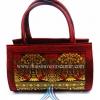 ของขวัญให้ผู้ใหญ่ กระเป๋าถือทรงกระบอก แบบ 52 สีทองเลือดหมู