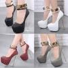 รองเท้าส้นสูง ไซต์ 34-40 สีดำ สีขาว สีแดง สีเทา