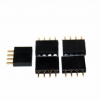 1x4 pin header 2.54mm PCB Female Header Single Row Straight Copper Pin จำนวน 5 ชิ้น
