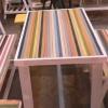 โต๊ะอาหารไม้แต่งร้านอาหารตามสั่ง