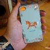 iPhone 4, 4S - เคส Face Idea ลายม้าโยก พื้นหลังเขียว