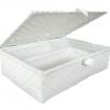 ตะกร้าสานพลาสติก กระเป๋าสานพลาสติก 4MF-White กว้าง 24.5 cm. ยาว 34 cm. สูง 10.5 cm