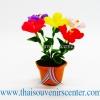 ของขวัญไทย ดอกไม้จิ๋วดินปั้น ดอกคุณนายตื่นสาย