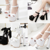 รองเท้าส้นสูงสีขาว/ดำ ไซต์ 34-38