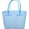 ตะกร้าสานพลาสติก กระเป๋าสานพลาสติก ATM - สายฟ้า กว้าง 18 cm. ยาว 39 cm. สูง 26 cm