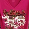เสื้อยืดคอวี ลายโขลงช้าง เสื้อสกรีนแบบไทยๆ ที่ได้รับความนิยมมาก เหมาะเป็นของขวัญทุกเทศกาล