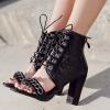 รองเท้าส้นสูงแบบเท่ๆสีดำ ไซต์ 35-40