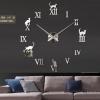 นาฬิกาDIY ขนาดจัมโบ้90cm สีดำ big8B
