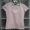 เสื้อยืดแฟชั่น ผ้าเสปนเด็กซ์ (Spandex) สีชมพูอ่อน ยี่ห้อ INED