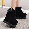 รองเท้าบูทส้นเตารีดสีดำ ไซต์ 34-39