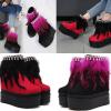 รองเท้าบูทส้นเตารีดสีชมพู/แดง ไซต์ 34-39
