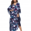 BOHO maxi dress navi flower