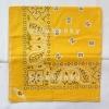ผ้าพันคอBandannasไซส์บิ๊ก 28นิ้ว สีเหลืองทอง