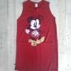 T1704 เดรสผ้าพื้นสกรินโบว์มิกกี้ ผ้ายืดใส่สบาย เหมาะมากกับหน้าร้อนบ้านเราจ้า สีแดง