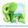 ตุ๊กตาช้างผ้าไหม แบบ 56 หมอนช้าง size M สีเขียวฟ้า