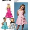 แพทเทิร์นตัดชุดเดรสเด็กหญิง Butterick 5980 Size: 2-3-4-5
