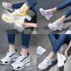 รองเท้าผ้าใบเสริมส้นผ้าโปร่งใส่สบายสีเหลือง/ชมพู/ดำ/เงิน ไซต์ 35-39
