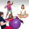 ลูกบอลโยคะ ป้องกันการระเบิด (Fitness Ball) ขนาด 45cm สีม่วงสดใส