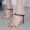 รองเท้าส้นสูงแบบสวมสายรัดสองเส้น ไซต์ 35-40