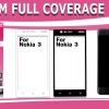Nokia3 (เต็มจอ) - กระจกนิรภัย FULL FRAME Dapad แท้ (ดีที่สุดในตอนนี้!!)