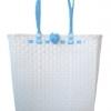 ตะกร้าสานพลาสติก กระเป๋าสานพลาสติก AU - สายฟ้า กว้าง 10 cm. ยาว 36cm. สูง 32 cm.