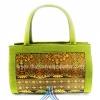 ของขวัญให้ผู้ใหญ่ กระเป๋าถือทรงกระบอก แบบ 51 สีทองเขียวอ่อน