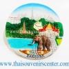 สินค้าที่ระลึก จานโชว์เรซิ่น แบบ 26 ลายช้างไทย