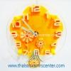 ของขวัญปีใหม่ นาฬิกาแฟนซี แบบ 8 รูปดอกไม้ สีส้ม