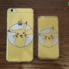 iPhone 5 / 5s / SE - เคสใสลายปิกาจู Pikachu Circle Pokemon
