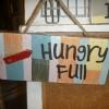 ป้ายแต่งบ้าน Hungry-Full